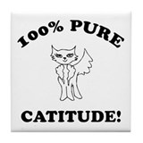 Cat Humor Gifts Tile Coaster