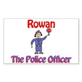 Rowan - Police Officer Rectangle Decal