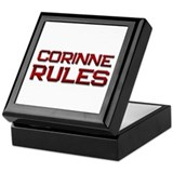 corinne rules Keepsake Box