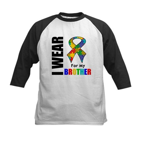 Autism Brother Kids Baseball Jersey