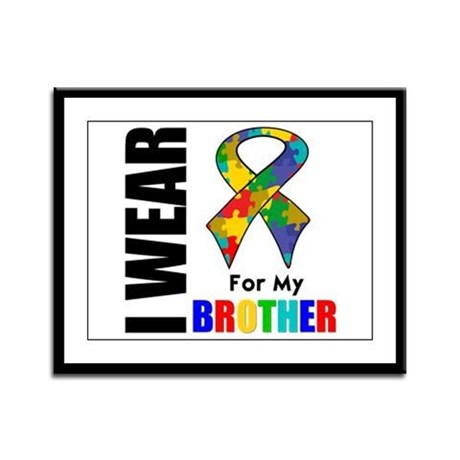 Autism Brother Framed Panel Print