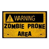 Zombie Warning Decal