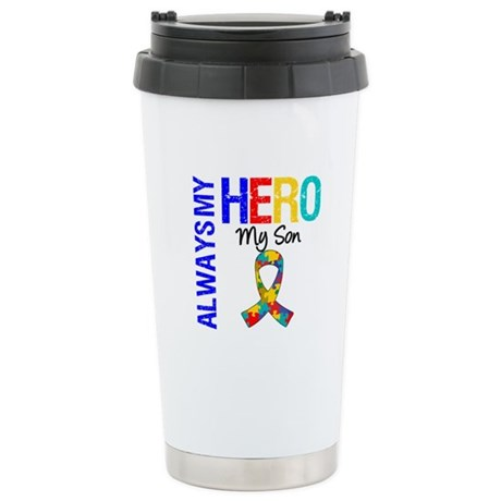 Autism Hero Son Ceramic Travel Mug