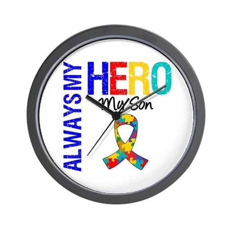 Autism Hero Son Wall Clock