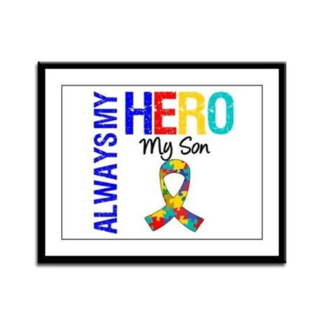 Autism Hero Son Framed Panel Print