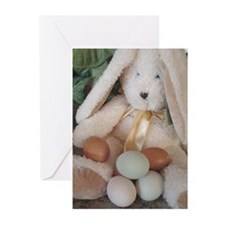 Easter Bunny w/Eggs Cards (Pk of 10)