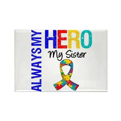 Autism Hero Sister Rectangle Magnet