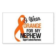 I Wear Orange For My Nephew Rectangle Decal