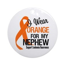 I Wear Orange For My Nephew Ornament (Round)