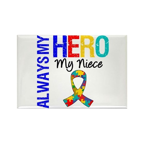 Autism Hero Niece Rectangle Magnet