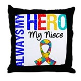Autism Hero Niece Throw Pillow