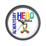 Autism Hero Niece Wall Clock