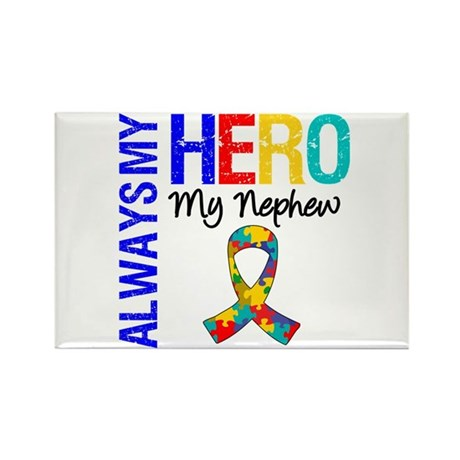 Autism Hero Nephew Rectangle Magnet