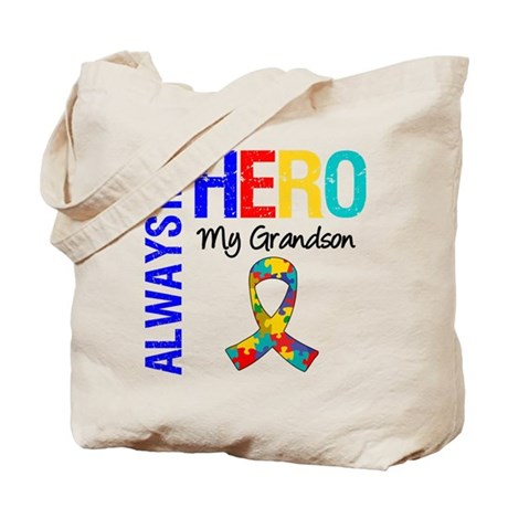 Autism Hero Grandson Tote Bag