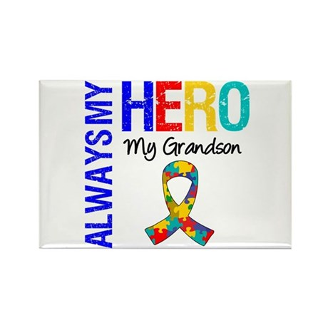 Autism Hero Grandson Rectangle Magnet