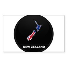Flag Map of New Zealand Rectangle Decal