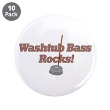 "Washtub Bass Rocks! 3.5"" Button (10 pack)"