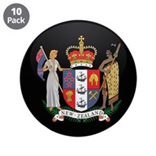 "Coat of Arms of New Zealand 3.5"" Button (10 pack)"