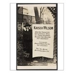 Kaiser Wilson - Suffragist Pickets Pres. Poster