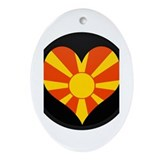 I love Macedonia Flag Oval Ornament