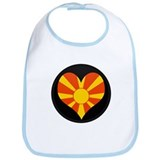 I love Macedonia Flag Bib