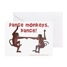 Dance Monkeys, Dance! Greeting Cards (Pk of 10)