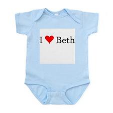 I Love Beth Infant Creeper