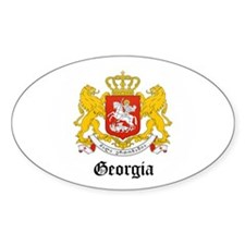 Georgian Coat of Arms Seal Oval Sticker (10 pk)