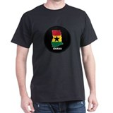 Flag Map of ghana T-Shirt