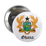"Ghanaian Coat of Arms Seal 2.25"" Button (10 pack)"
