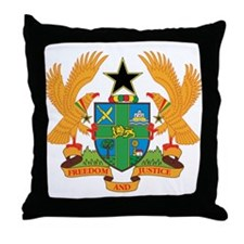 ghana Coat of Arms Throw Pillow