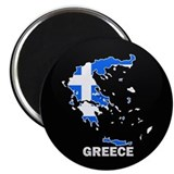 Flag Map of Greece Magnet