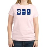 Eat, Sleep, Soccer! Women's Pink T-Shirt
