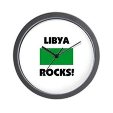 Libya Rocks Wall Clock