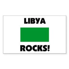 Libya Rocks Rectangle Decal