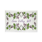Swan Valley Scroll Rectangle Magnet