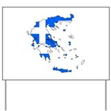 Greece Flag Map Yard Sign