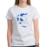 Greece Flag Map Tee