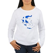 Greece Flag Map T-Shirt