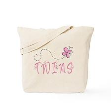 Cute Pink Twins Tote Bag
