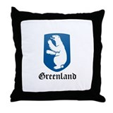 danish Coat of Arms Seal Throw Pillow