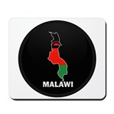 Flag Map of malawi Mousepad