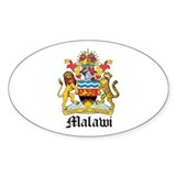 Malawian Coat of Arms Seal Oval Decal