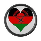 I Love malawi Large Wall Clock