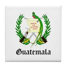 Guatemalan Coat of Arms Seal Tile Coaster