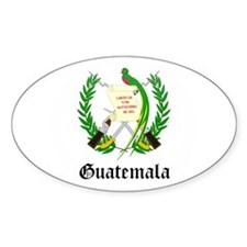 Guatemalan Coat of Arms Seal Oval Decal