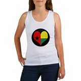 I love GUINEA BISSAU Flag Women's Tank Top
