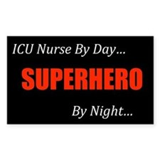 ICU Nurse Rectangle Decal