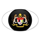 Coat of Arms of malaysia Oval Decal