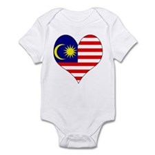 I Love malaysia Infant Bodysuit